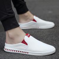 Summer Men Corean Version Leggero Tela Casual Trend Casual Vecchi scarpe da panno di Pechino Traspirante Una tavola da pompa a pedale Scarpe