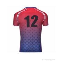 Mens blau rot schwarz weiß genäht Fußball Trikots benutzerdefinierte ja name nummer gute qualität emberory shirts s-xxl yema