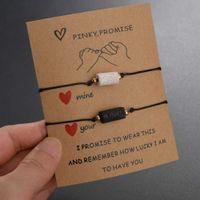 Charm s Diy for Friendship Couples 2pcs set Volcanic Stone Bracelet Bead Bangles Women Man Lucky Jewelry