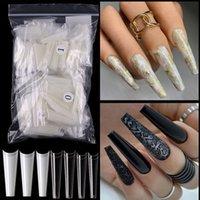 XXL French Non-Proming Censing Nail Tips Half Cap و Super Long Acrylic System Manicure كما هو موردة من صالون المهارة