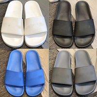 Paris 2020 Slides para hombre para mujer Sandalias de verano Sandalias de playa Zapatillas de playa Flip Flops Mocasines Negro Blanco Azul Diapositivas Zapatos de Chaussures