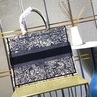 5a + designer sac fourre-tout sacs sacs en toile Shopping Sac à main Épaule classique Femmes de luxe Designers Mode brodé Grande capacité avec boîte d'origine Grande taille 42 * 34cm