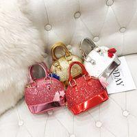 Мини-блеск сумочка дизайнеры цепь сумка Crossbody Fanny Pack Shell форма рука сумки девочки сумки сверкающие кошелек блестки вечеринки ужин сумки пакеты L616MQJZ