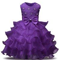Blumenmädchenkleid für Hochzeit Baby Mädchen 3-8 Jahre Geburtstag Outfits Kinder Mädchen Erste Kommunion Kleider Mädchen Kinder Party Wear 784 S2