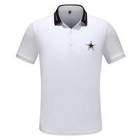 2021 Monclair men s luxury summer men's Polo women's Polos shirt fashion double bead boutique solid color top short T-shirt