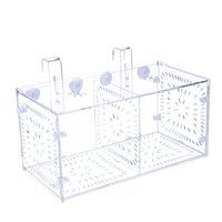 Aquariums 50LB Fish Separation Breeder Box Acrylic Transparent Tank Breeding Isolation Aquarium Hatchery Incubator Holder