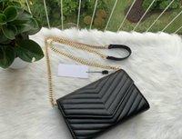 Mode Metallkette Handtasche Taschen Frauen Flip Deckel Diagonale Umhängetasche