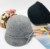 키즈 캐시미어 모직 모자 소녀 활 공주 모자 가을 패션 아가씨 Stingy Brim 승마 모자 어머니와 딸 모자 Q1894