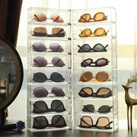 Storage Drawers 4pcs lot Clear Acrylic Drawer Organizer Boxes For Sunglasses Stationery Cosmetics Cases Kitchen Bathroom School
