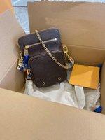 فائدة الهاتف كم متعدد المهام حقيبة مصمم البني monograms قماش سلاسل معدنية جلدية حقائب حزام حزام الأزياء الكتف الصليب الجسم حمل الحقائب