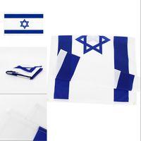 Национальный флаг Израиля для украшения розничная прямая фабрика оптом 3x5fts 90x150см Полиэстер баннер крытый на открытом воздухе 1244 v2