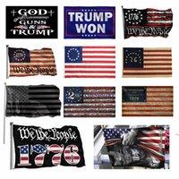 3x5ft الأسود العلم الأمريكي البوليستر لا ربع سيتم إعطاؤنا لنا الولايات المتحدة الأمريكية راية حماية التاريخية العلم على الوجهين الداخلي في الأماكن المغلقة HHF10108