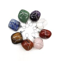 Irregular Natural Crystal Stone Handmade Silver Plated Pendant Necklaces For Women Girl Fashion Party Club Decor Jewelry