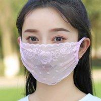 Dünne Frauen Sommer Spitze Maske Atmungsaktive Götte Sonnenschirm Frühling und Herbst Schleier modisch Gesicht weich