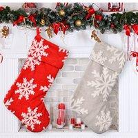 크리스마스 Navidad 스타킹 자루 산타 크리스마스 양말 럭셔리 빈 선물 홈 장식 봉제 눈송이 주식