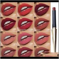 Health Beauty Drop Livraison 2021 Haute Qualité Matte à lèvres 12 couleurs Femmes Femmes Lèvres Cosmétiques Maquillage Lèvres Sticks 10G par chacun avec paquet Humb