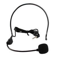 Microphones Professional Headworn Wired Handsque Free Casque de conférence Microphone Micro Système de micro 3.5 mm Megaphone pour professeur de haut-parleur Guide touristique