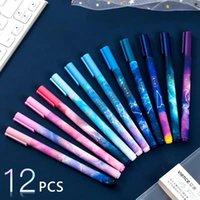 젤 펜 12pcs 크리 에이 티브 펜 세트 판타지 별이 빛나는 하늘 12 개 별자리 0.5 mm 검은 잉크 학생 서명 문구