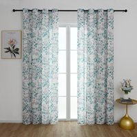 Curtain & Drapes Home Decor Window Floral Living Room Bedroom Kids Furniture Cover Eyelets Furnishing Textile D30