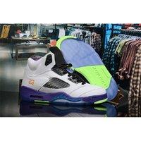 새로운 5 대체 벨 화이트 코트 보라색 레이서 핑크 유령 녹색 남성 숙녀 농구 신발 5S Womens Mens 디자이너 스 니 커 즈