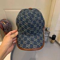 2021 Trendy Erkekler Beyzbol Şapkası Tam Mektup Baskılı Hip Hop Kadın Tasarımcılar Şapka Kovboy Erkek Yaz Moda Tasarımcısı Cappelli Firmati