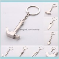 Key Rings Jewelry10Pcs Arrival Jewelry Plated Sier Chains Chaveiro Pendant Saws Screwdriver Wrench Shovel Hammer Tool Keychain K00006 Drop D