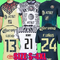 Spielerversion Liga MX 21 22 Club America Home Away Fussball Trikots 2021 2022 G.oshoa Henry F.Viñas Camisas de Futebol Training Langarm Fußball Hemd 2XL 3XL 4XL Frauen