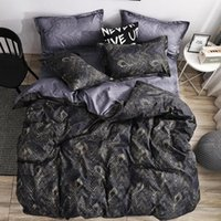 Peacock Feather Bedding Set Royal Duvet Cover Sets King Size Black Gold Luxury Style Bed Linens Standard Super Double Home