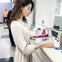 Tarjetas Tarjetas Bolsa de almacenamiento antirrobo Organizador multifuncional Bill Cuenta Documento Pasaporte Pasaporte Caja Accesorios de viaje