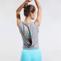 lulu High quality Fashion women fitness workout Designer yoga clothes sports Quick drying top women's Yoga 2020 hot T-shirt vest sleeveless
