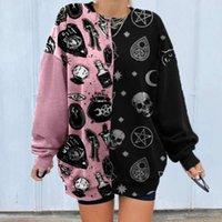 YSKKT Sweatshirt Frauen Bunte Trui Tops Lent Mode Streetwear Übergroßes Losse Shirt