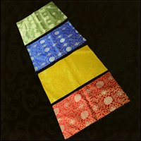 Custom Luxury Jacquard Rectangle Dust Cover Cloth Chinese Silk Satin Side End Tablecloth Small Cabinet Bedside Table Printer dirt-proof Sets