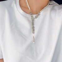 Fashion letter gold chain necklace bracelet for mens and women Party lovers gift jewelry
