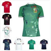 2021 British and Irish Navy Green Bianco Lions Camicia da rugby International League Jersey National Team Leons Jerseys