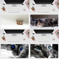 Mouse Pads & Wrist Rests Lovely Cat Gaming Computer Pad Large Mat Big Desk Non-Slip Rubber Base Mousepad