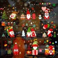 Sevimli Noel Baba Pencere Cam Çıkartmalar Kanatası Tatil Dekorasyon Noel Deklanşörü Sticker Sahne Düzenleme OWB10395