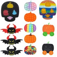 Decompression toy finger bubble Halloween demon pumpkin desktop puzzle fingertip Press the skull silicone to vent music DHL free