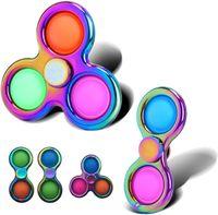 Spinning Top Finger Burbuja Música Aleación de la aleación Girroscopio Presión Alivio Juguete Mouse Control Pionero Key Ring