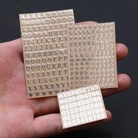 선물 포장 5pcs 3mm 알파벳 문자 chunky 반짝이 에폭시 수지 장식 스티커 Engkish numbers UV 충전물
