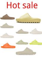 Corredor de espuma Slipper West 2021 Kanye Tainers Slide Sline Triple Core Brown Desert Bone Originales Resina Mujeres Sandalias de diseño al aire libre 36-45