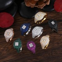 Wedding Rings GODKI Collection Trendy Heart Cubic Zircon Stackable Chic Ring For Women DUBAI Bridal Statement Finger 2021