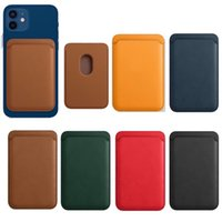 luxury Card Bag Magsafing Magnetic Leather Wallet Cards Pocker Holder For IPhone 12 Pro Max Mini Magsafe Case Smartphone DHL