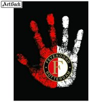 Diamond Painting 5d Diy Feyenoord Dutch Football Picture Full Square Embroidery Crystal Mosaic 3d Wall Sticker