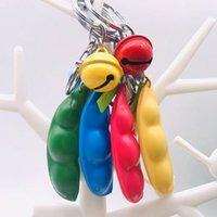 Con Bell Fidget Pea Popper Squeeze-A-Bean Key Anello Portafoglio Borsa Charm Pendenti Sensorio Sentiosio Piselli Dimple Giocattoli Dito Funy Game H41HFMZ