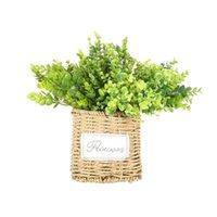 الزهور الزخرفية أكاليل 1 قطعة محاكاة الأوكالبتوس الصغيرة أوراق العشب باقة للمنزل حديقة حزب الديكور نباتات وهمية هدية هدية