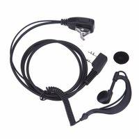2 штифта наушников гарнитура PTT MIC 1M ушной крючок Walkie Talkie Earbud Wiverphone наушники наушники для Baofeng UV5R / Kenwood / Hyt