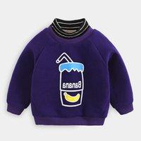 Benemaker Baby-Rollkragen-Swearshirts für Winter-Fleece-Pullover Kinderkleidung warmes langarm top Kinderkleidung NA806 Y0304