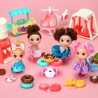 Childrens Play House Toy Cake Novelty Girl Toy Trumpet Cake Donut Ice Cream Doll Princess Decoration