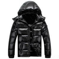DesignerMerns Designer Mantel mit Kapuze Winter Windjacke Mantel hinunter dicker Hoodie Outwear Leuchtende Jacken Herren Daunenjacke