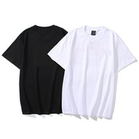 Men's and women's classic crewneck printed matching T shirt summer loose casual hip hop short sleeves
